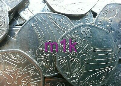 Olympic 50p London 2012 CYCLING I Want to Ride My Bicycle Fifty pence Circulated