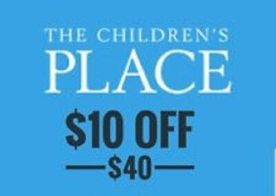 The Children's Place $10 off $40 or more code