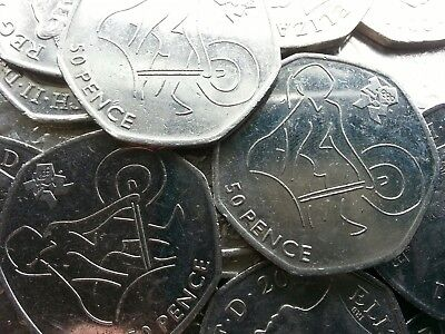 Olympic 50p. London 2012. WEIGHTLIFTING. Weight Lifting. Fifty pence.Circulated.