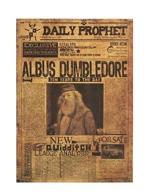 Harry Potter Albus Dumbledore Vintage Poster Paper Wall Stickers Home Placard