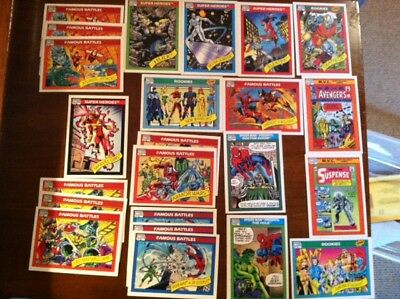 "23 Impel 1990 Marvel Comics Trading Cards, 2 1/2"" x 3 1/2"""