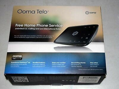 Ooma Telo Free Home Phone Service (VoIP)  - with NEW Wireless Adapter & Cable