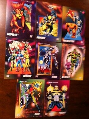 "1992 Lot of 8 Impel Marvel Comics Trading Cards, 2 1/2"" x 3 1/2"""