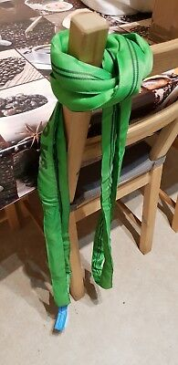 2 Tonne Endless Polyester Webbing Lifting Cargo Round Sling Strap Strop 0.5-6mtr
