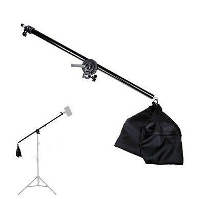 Lightdow 2.5ft to 4.5ft Adjustable Overhead Light Boom Arm with Swivel Tripod Cl