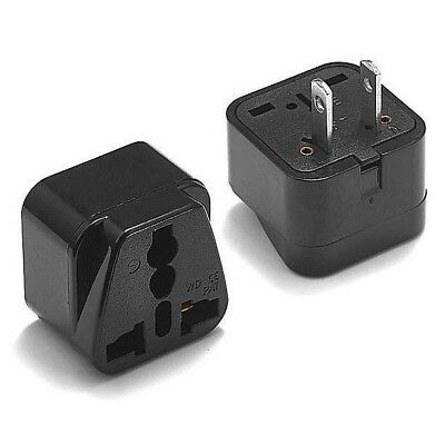 EU to US Europe Universal Travel Adapter Charger Converter AC Power Plug Socket