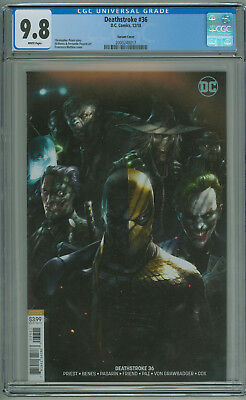 Deathstroke #36 CGC 9.8 Cover B Variant Mattina Variant 2018 Free Shipping