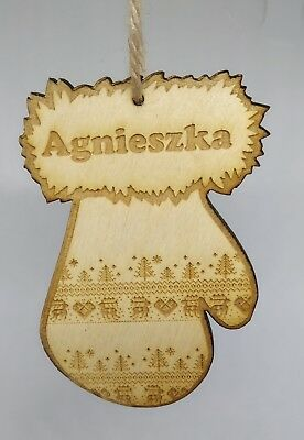 Personalised Christmas Tree Ornaments Wooden Bauble 12 Styles