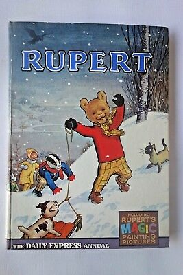 Vintage Rupert Annual 1967 Unclipped Christmas Magic Painting Untouched