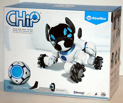 WOWWEE CHIP THE Lovable Trainable Robot Dog, Brand New