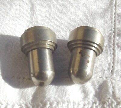 Pair Vintage French Chrome Acorn Light Blind Curtain Pull cord weight