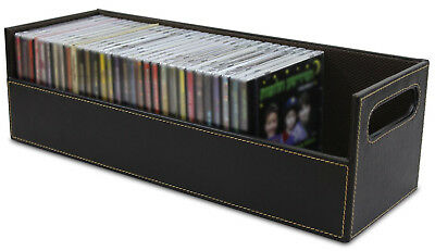 CD Storage Box Rack Holder Stacking Tray Shelf DVD Disk Case Space Organizer New