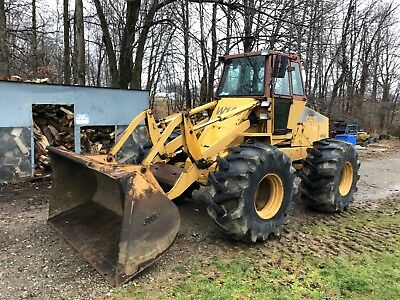 Case W14C Articulating Wheel Loader 90hp Cummins Forestry Special Tires!!