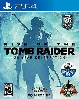 RISE OF THE TOMB RAIDER 20 YEAR CELEBRATION EDITI [PS4] New and Factory Sealed!!