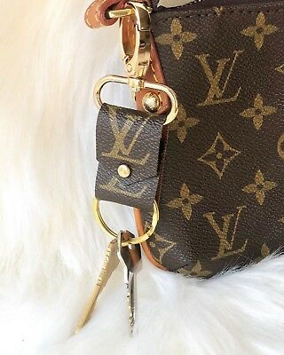 Authentic Fashion Designer Vintage Bag Transformed into a Keychain Bag Charm USA