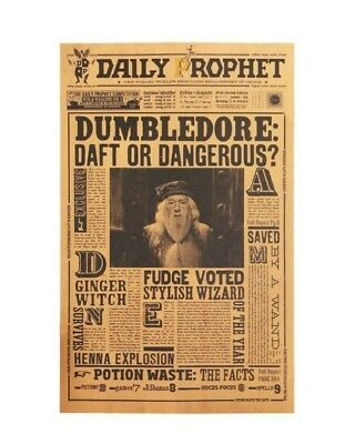 Harry Potter Albus Dumbledore Vintage Poster Paper Wall Sticker Decor Placard