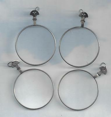 4 Vintage Clear Trial or Optical lenses..INCLUDING jump rings