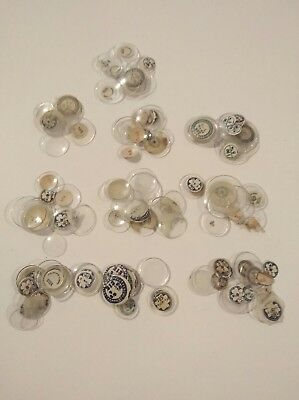 Job Lot 100 Vintage Pocket Watch/ Watch Glasses NOS For The Watchmaker OC41
