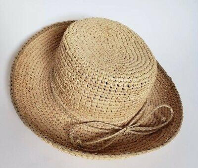 93d0260ebdc11 The Scala Collection Womens Natural Fiber Straw Rolled Brim Sun Hat One Size