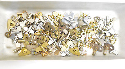 Huge Lot over 100 Vintage Alarm Clock Winding Keys Watchmakers Watch Parts