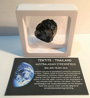 """""""RARE"""" 20.9 Gram TEKTITE Museum Quality with stand and label, asteroid, Comet"""