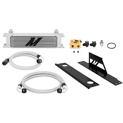 Mishimoto Silver Thermostatic Oil Cooler Kit for 2002-05 Subaru WRX/STi