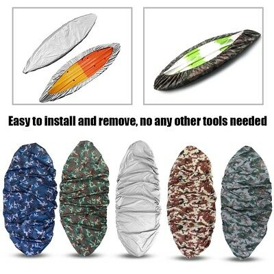 Camouflage Canoe Kayak Boat Waterproof UV Resistant Dust Storage Cover Shield