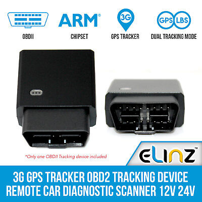 3G GPS Tracker OBD2 Tracking Device Remote Car Diagnostic Scanner 12V 24V