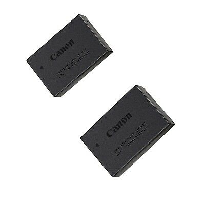 2 PACK Genuine Canon LP-E17 Battery for 77D M6 M5 M3 T7i T6i T6s SL2 LC-E17 Lot