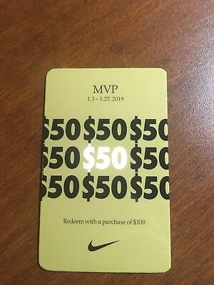 Nike MVP Pass $50 Off 100 For Use 1/3 - 1/27  Nike Outlets Only Authentic