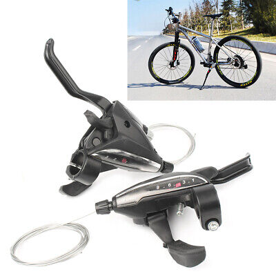 Pair Shimano ST-EF65 3x8 Speed MTB Bike Brake Levers Set Shifter Shift Levers