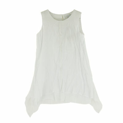 Fever Women's Double Layer Woven Sleeveless Top, Small, Bright White