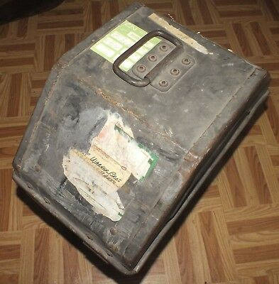 Vintage VITAGRAPH Movie Film Metal Case Theater Carrying Transfer Box 35mm RARE