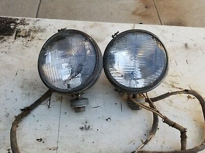 Willys MB/Ford GPW original WW2 Jeep Headlamps- Matched pair. Nice condition