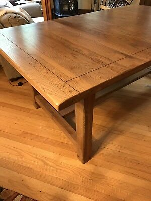 Solid Oak Dining Room Table Set With Six Chairs -Intercon Mission/Stickley Style