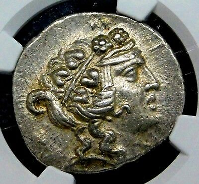 NGC AU 5/5-4/5. Thrace, Thasos. Stunning Tetradrachm. Ancient Greek Silver Coin.