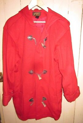 af11d9c79 EDDIE BAUER 100% Wool Coat Small Tall Red Plaid - $15.00 | PicClick