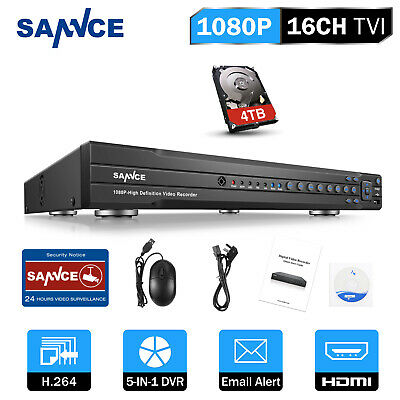 SANNCE 16CH/ 8CH/ 4CH Full 1080P DVR Video Recorder for CCTV Security System