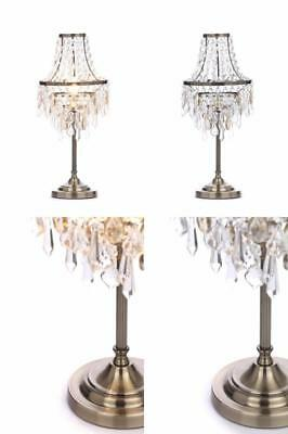 Illuminate Lublin Art Deco, Chandelier Style 1 Light Table Lamp With Clear...