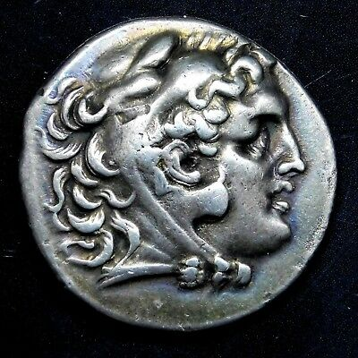 Alexander the Great. Outstanding Tetradrachm. Ancient Greek Silver Coin.