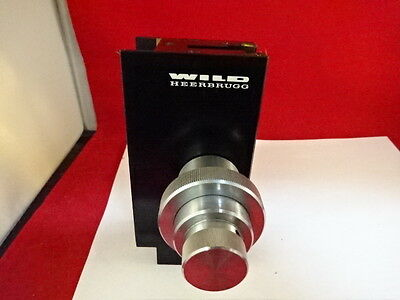 Microscope Part Wild Heerbrugg Swiss M20 Brass Stage Micrometer As Is #51-A-08