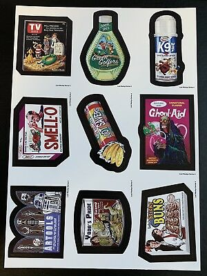 LOST WACKY PACKAGES 4th Series NINER With 9 Titles + Star Wars Titles