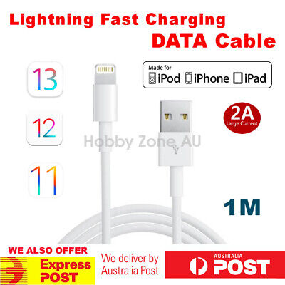 iPhone X XR XS Max 8 7 6s 5 Plus USB to Lightning Data Fast Charger Cable iOS12