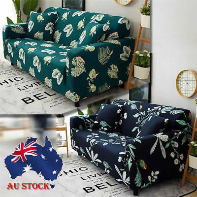 1 2 3 Seat Stretch Sofa Slipcover Seats Cover Non-Slip All-corner Covered Couch