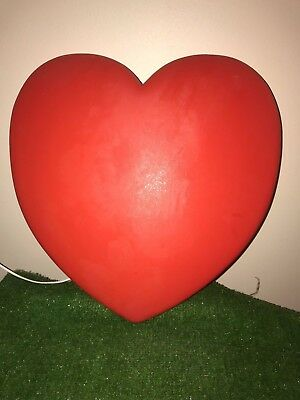 Vintage Union Valentine's Day Lighted Blow Mold Heart Decoration #1