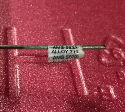 """1/16"""" Super Alloy 718 Inconel Welding Wire GTAW 6-18"""" Pieces. Awesome Alloy"""