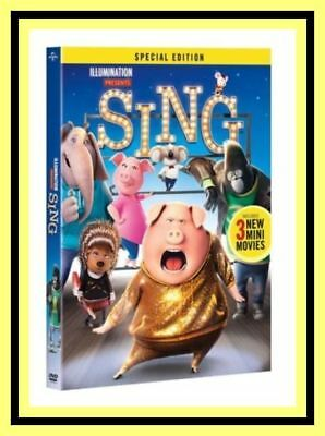 SING ~ (3 Mini movies Disc DVD -  Special Edition, 2016)