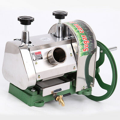 Commercial Manual Sugarcane Juicer Sugar Cane Extractor Squeezer Steel 50kg/h US
