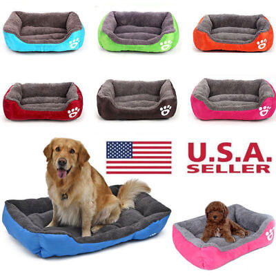 Dog Bed Pet Kennel House Warm Cushion Pad Blanket Puppy Cat Large Medium Small