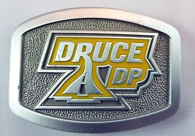 Druce DP Road Construction Collectable Fine Pewter Belt Buckle Made in Australia